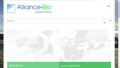 Capture d'écran du site de Alliance Bio