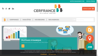 Site internet de Agc Alliance Centre