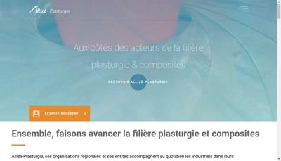 Capture d'écran du site de Conseil Formation Plasturgie