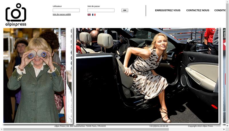Capture d'écran du site de Allpix Press
