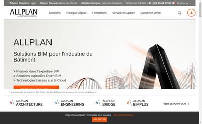 Site internet de Allplan France