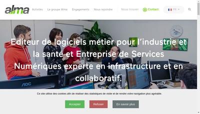 Site internet de Alma