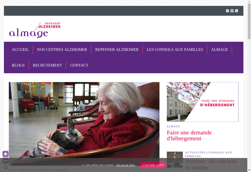 Capture d'écran du site de Residence la Bruyere