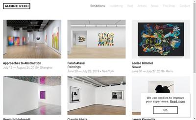 Site internet de Galerie Almine Rech