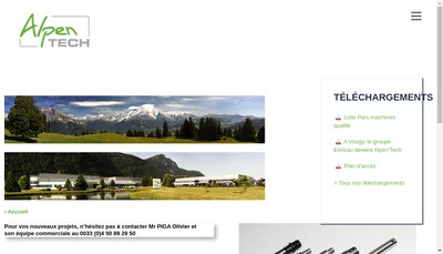 Site internet de Alpen'Tech