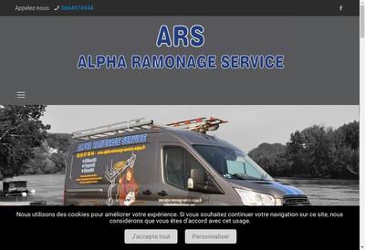 Site internet de Alpha Ramonage Service