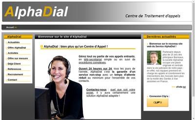 Site internet de Alphadial