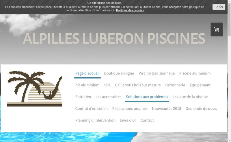 Capture d'écran du site de Alpilles Luberon Piscines
