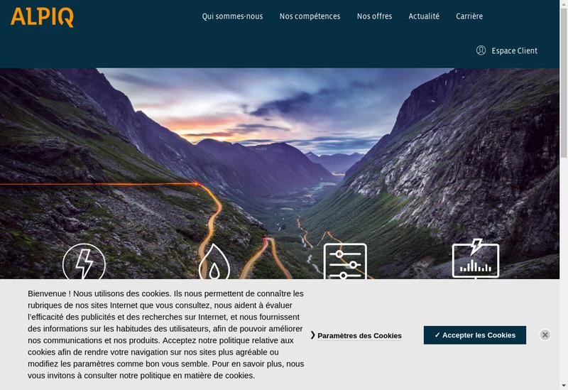 Capture d'écran du site de Alpiq Energie France SAS