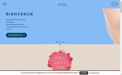 Site internet de Alpol Cosmetique