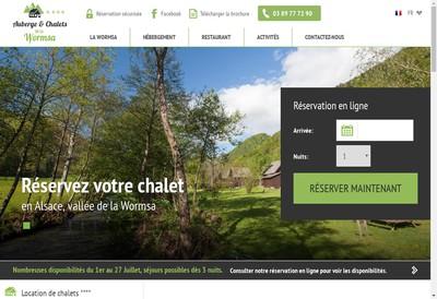 Site internet de Auberge et Chalets de la Wormsa