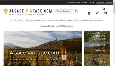 Site internet de Alsace Vintage Com
