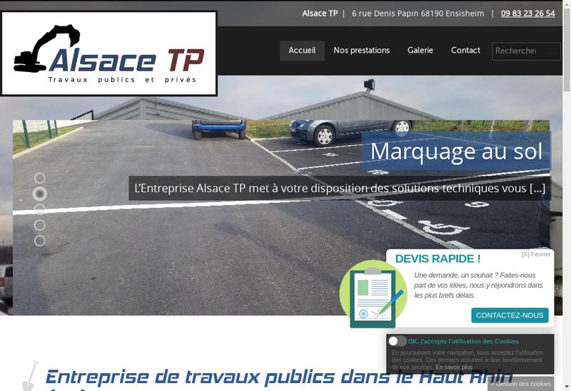 Capture d'écran du site de Alsace Tp