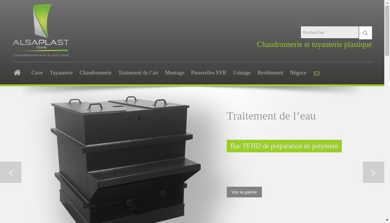 Capture d'écran du site de Alsaplast Team