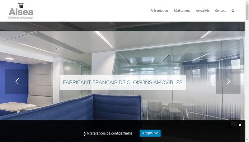 Capture d'écran du site de Alsea