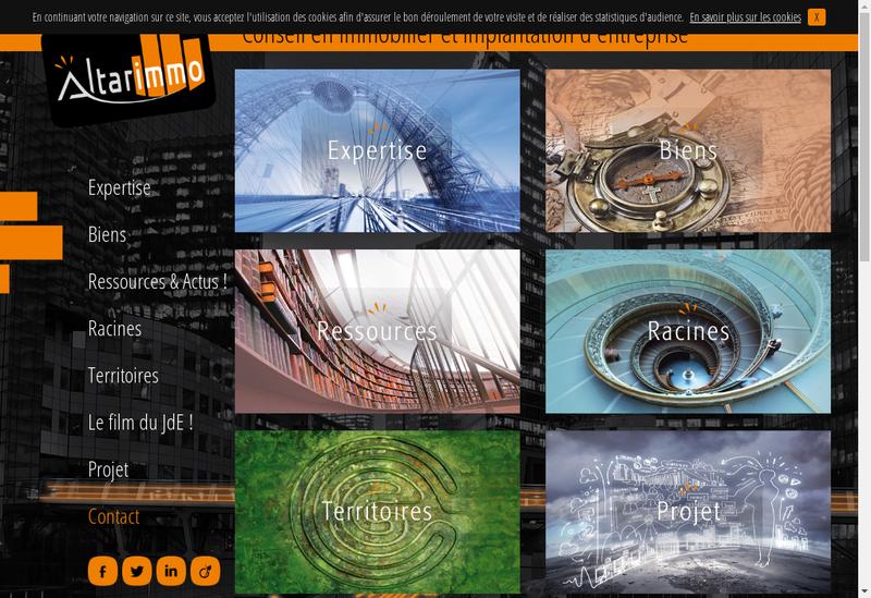 Capture d'écran du site de Altarimmo