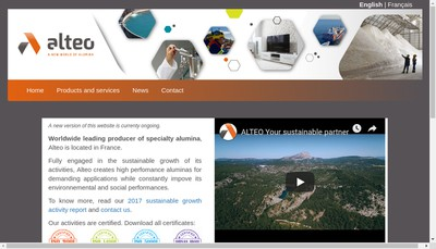 Site internet de Alteo Holding