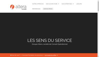 Site internet de Altera Conseil