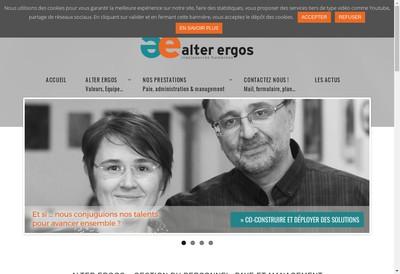 Site internet de Alter Ergos
