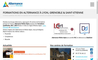 Site internet de Groupe Alternance
