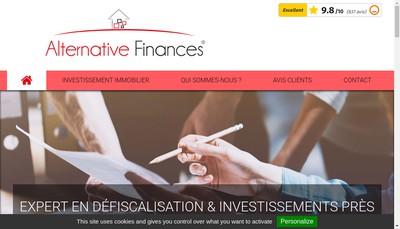 Site internet de Alternative Finances
