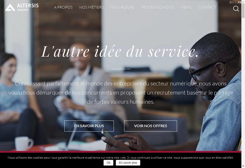 Capture d'écran du site de Ascott Informatique