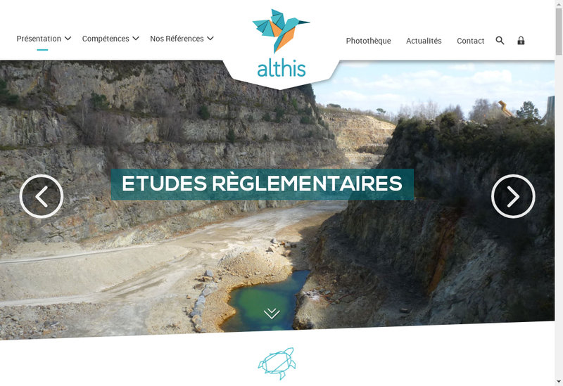 Capture d'écran du site de Althis