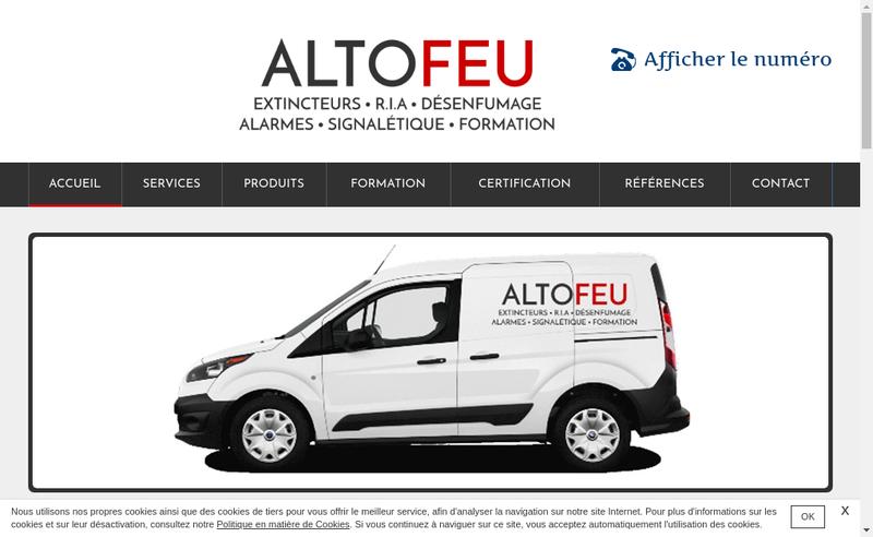 Capture d'écran du site de Altofeu