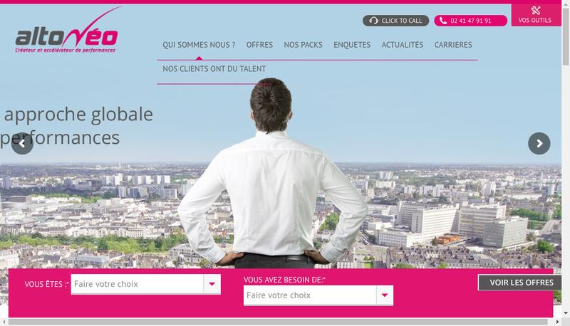 Capture d'écran du site de Altoneo Conseil