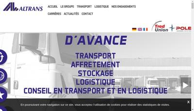 Site internet de Altrans - Alsace Lorraine Transports