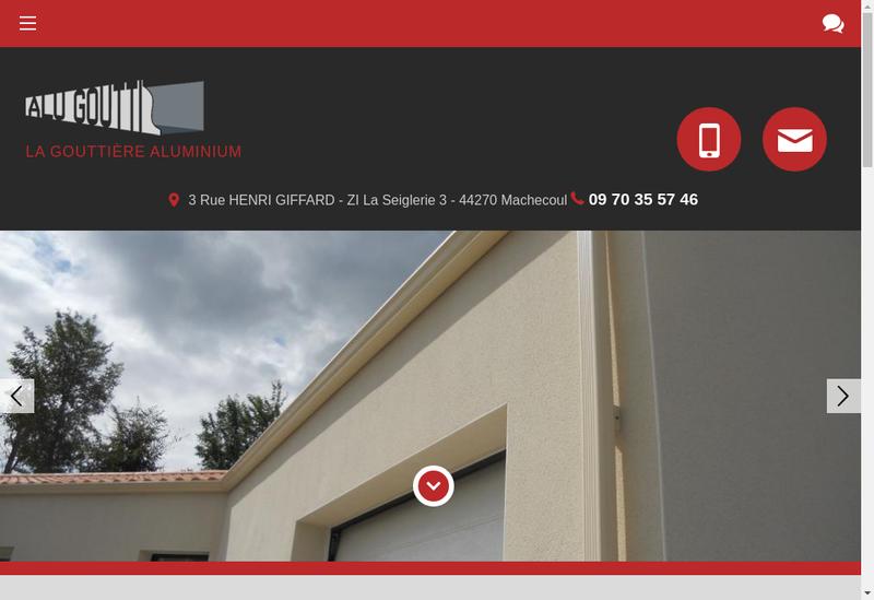Capture d'écran du site de Alu Goutti
