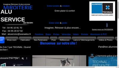 Site internet de Miroiterie Alu Service