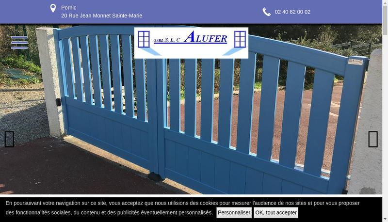 Capture d'écran du site de Alufer