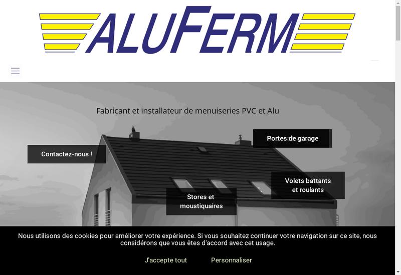 Capture d'écran du site de Aluferm