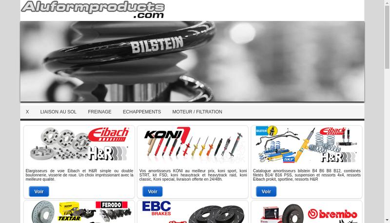 Capture d'écran du site de Aluformproducts