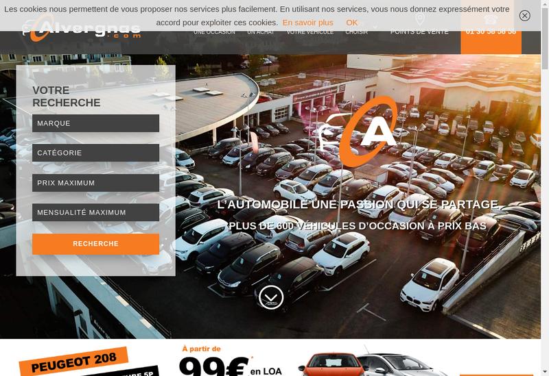 Capture d'écran du site de Alvergnas Automobiles