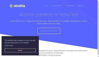 Site internet de Alzohis