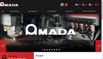 Site internet de Amada Europe
