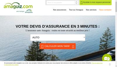 Capture d'écran du site de Amaline Assurances