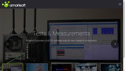 Capture d'écran du site de Amarisoft