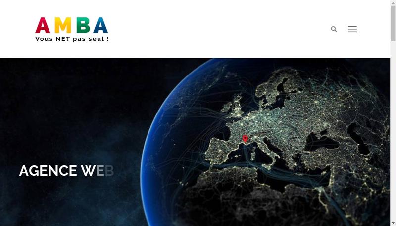 Capture d'écran du site de Amba