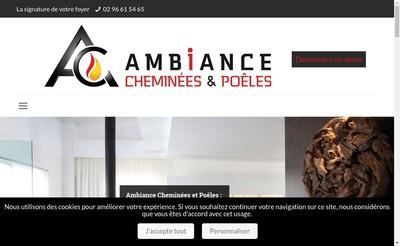Site internet de Cheminees Rene Brisach