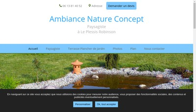 Site internet de Ambiance Nature Concept