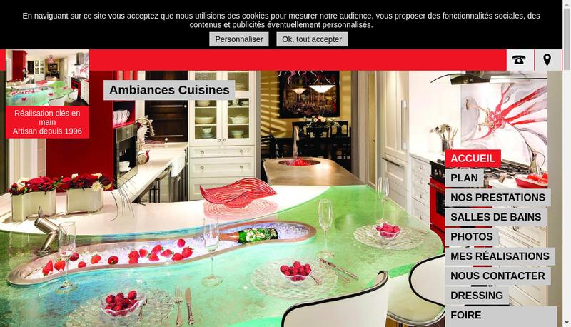 Capture d'écran du site de Ets Andre Lewyllie