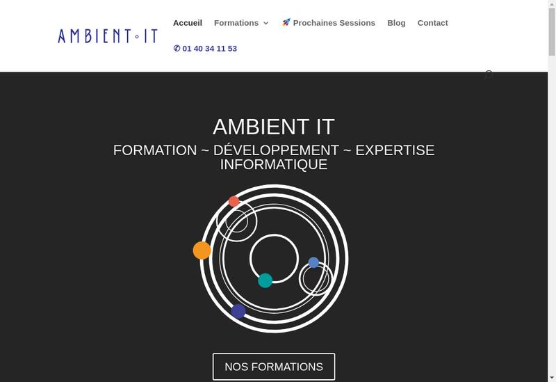 Capture d'écran du site de Ambient It