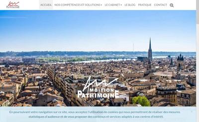 Site internet de Ambition Patrimoine