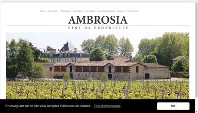 Site internet de Ambrosia