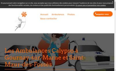 Site internet de Ambulances Calypso