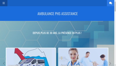 Capture d'écran du site de Phs Assistance