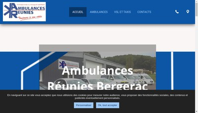Site internet de Ambulances Reunies